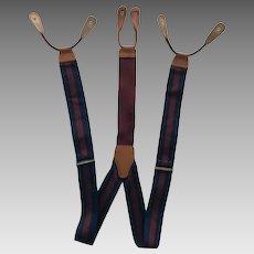 Brooks Brothers Suspenders/Braces in Dark Blue and Maroon Stripes