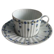 Limoges GDA c. 1900 -1941 fluted cup and saucer