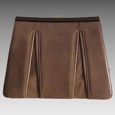 Light brown Barbara Bolan leather purse
