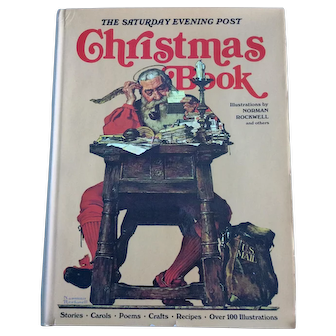 The Saturday Evening Post Norman Rockwell illustrated Christmas Book c. 1976