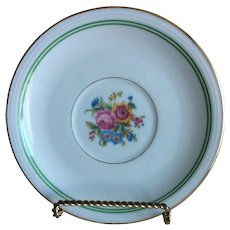 3 Limoges Charles Ahrenfeldt flowered plates