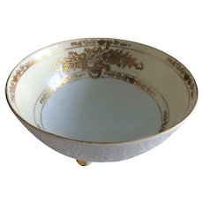 Noritake vintage,  footed bowl hand painted in gold.