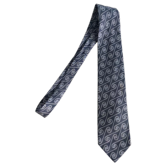 Armani Grey Lino-Flax necktie