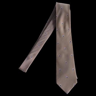 Lanvin Light Brown Pure Silk Necktie
