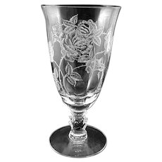 Heisey ROSE Etched Ice Tea Tumbler (s) 12 ounce