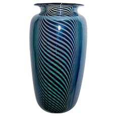Blake Street Glass Studio VASE by Kit Karbler & Michael David- Dated 1980
