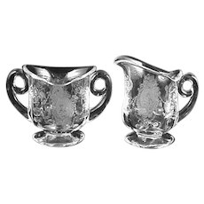 Heisey MINUET Crystal Individual Creamer & Sugar- No. 1511-Toujours- Scarce!