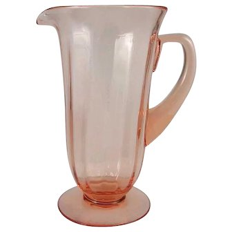 Fostoria FAIRFAX Pink Footed Water Pitcher/ Jug- No.5000