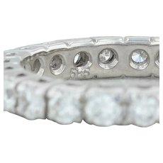 1.25ctw Diamond Eternity Wedding Band - 14k White Gold Size 5.5 Stacking Ring