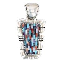 Carolyn Pollack Relios Gemstone Mosaic Pendant - Sterling Silver Keystone