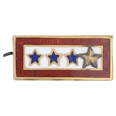 Sons in Service Gold Star Pin 10k Gold Vintage Military Keepsake 4 Stars