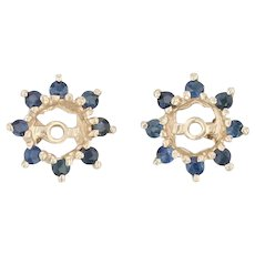 0.30ctw Blue Sapphire Earring Enhancers Jackets 14k Yellow Gold for Studs