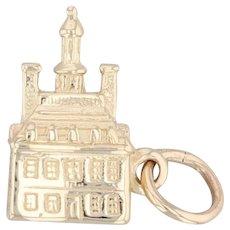 Governor's Palace Williamsburg Virginia Souvenir Charm 14k Yellow Gold Pendant