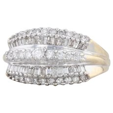 1.15ctw Diamond Cluster Ring 14k Yellow Gold Size 6 Cocktail