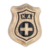 Vintage Kappa Alpha Order Small Badge 14k Gold Fraternity Mini Pin