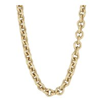 "Slane & Slane Cable Chain Necklace 18k Yellow Gold 16.5"" 6mm Ring Toggle Clasp"