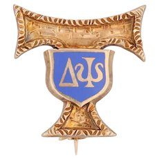 Saint Anthony Delta Psi Badge 14k Gold 1938 Fraternity Pin Literary Society