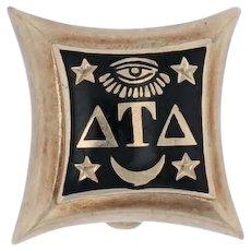 Delta Tau Delta Fraternity Badge - 10k Gold DTD 1949 Vintage Greek Society