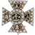Alpha Tau Omega ATO Cross Badge - 14k Gold Pearls Fraternity Pin 1912 Antique