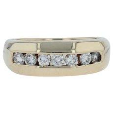 .70ctw Diamond Men's Wedding Ring - 14k Yellow Gold Band Size 9.25