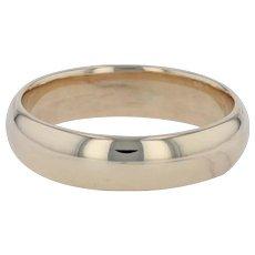 Men's Wedding Band - 14k Yellow Gold Size 11 Ring Polished Finish 5.5mm