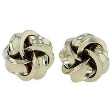 Knot Cuff Links - 14k Yellow Gold 585 Men's Vintage Cufflinks