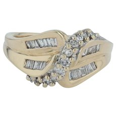 .55ctw Diamond Cocktail Ring - 14k Yellow Gold Size 6.25 Pave