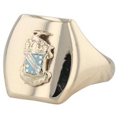 Phi Delta Theta Ring - 10k Yellow Gold Size 8.5 Fraternity Crest Greek Society