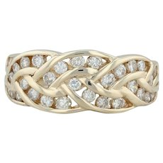 .70ctw Diamond Mosaic Cocktail Ring - 14k Yellow Gold Size 7.5 Women's