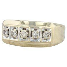 .50ctw Diamond Ring - 14k Yellow Gold Size 12 Men's Wedding Band