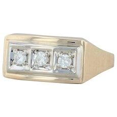 .25ctw Diamond Ring - 14k Yellow Gold Size 12.75 Men's Wedding Band