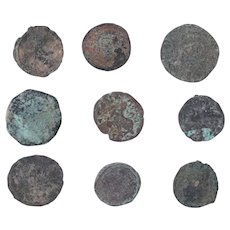 Ancient Coins Mixed Figural Roman Artifacts Lot of 9 B10001