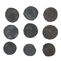Ancient Coins Mixed Figural Roman Artifacts Lot of 9 B10002
