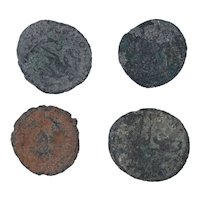 Ancient Coins Mixed Figural Roman Artifacts Lot of 4 B10003