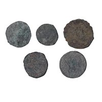 Ancient Coins Mixed Figural Roman Artifacts Lot of 5 B10004