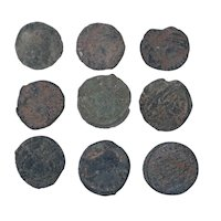 Ancient Coins Mixed Figural Roman Artifacts Lot of 9 B10005