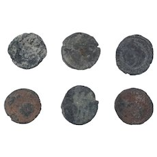 Ancient Coins Mixed Figural Roman Artifacts Lot of 6 B10007
