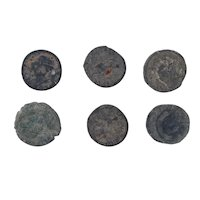 Ancient Coins Mixed Figural Roman Artifacts Lot of 6 B10008