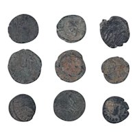 Ancient Coins Mixed Figural Roman Artifacts Lot of 9 B10012