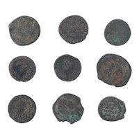 Ancient Coins Mixed Figural Roman Artifacts Lot of 9 B10013