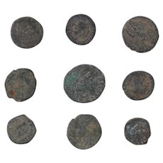 Ancient Coins Mixed Figural Roman Artifacts Lot of 9 B10015