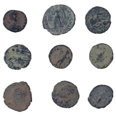 Ancient Coins Mixed Figural Roman Artifacts Lot of 9 B10017