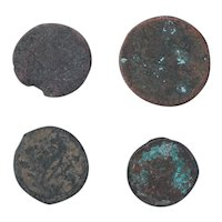 Ancient Coins Mixed Figural Roman Artifacts Lot of 4 B10019