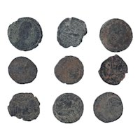 Ancient Coins Mixed Figural Roman Artifacts Lot of 9 B10020