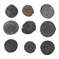 Ancient Coins Mixed Figural Roman Artifacts Lot of 9 B10021