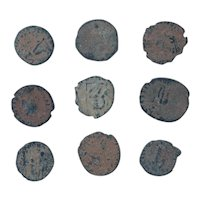 Ancient Coins Mixed Figural Roman Artifacts Lot of 9 B10022