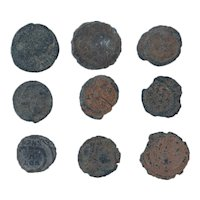 Ancient Coins Mixed Figural Roman Artifacts Lot of 9 B10023