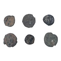 Ancient Coins Mixed Figural Roman Artifacts Lot of 6 B10025
