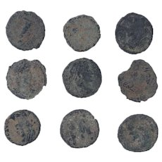 Ancient Coins Mixed Figural Roman Artifacts Lot of 9 B10027