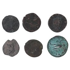 Ancient Coins Mixed Figural Roman Artifacts Lot of 6 B10038